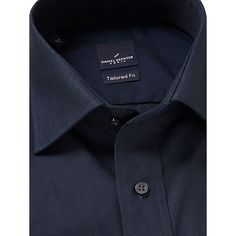 Buy Daniel Hechter Cotton Twill Tailored Fit Shirt, Navy from our Men's Shirts range at John Lewis & Partners. Navy Online, Cutaway Collar, Workout Shirts, Parisian, Shirt Dress, Mens Fashion, My Style, Fitness, Cotton