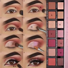 Hooded Eye Makeup – Great Make Up Ideas Makeup Eye Looks, Eye Makeup Steps, Eyebrow Makeup, Skin Makeup, Eyeshadow Makeup, Makeup Brushes, Makeup Tips, How To Apply Eyeshadow, Eyeshadows