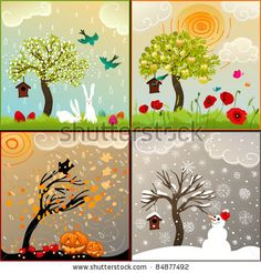 four seasons greeting cards - Google Search