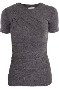 T by Alexander Wang Draped jersey top  | THE OUTNET