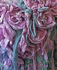 курсы по валянию, нуно-фелтинг, шарфы, цветок из тканиКурсы по нуно-войлоку в украса
