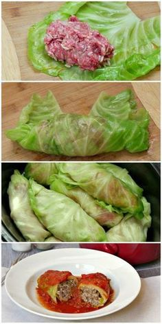 Slow cooker stuffed cabbage rolls are a low carb, gluten free dinner. Use ground turkey or ground beef in the meat mixture and simmer all day in tomato sauce in the Crock Pot for a delicious dinner. paleo for beginners slow cooker Crock Pot Slow Cooker, Crock Pot Cooking, Slow Cooker Recipes, Beef Recipes, Cooking Recipes, Healthy Recipes, Cooking Time, Top Recipes, Dinner Recipes