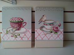 tela pintada m�o medida 25 x 35 cm Diy Painting, Painting On Wood, Kitchen Art, Diy Organization, Tea Towels, Vintage Posters, Tea Cups, Arts And Crafts, Hand Painted