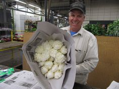 Victor Neve and his #cagrown #peonies at Lassen Ranch inside www.sanfranciscoflowermart.com