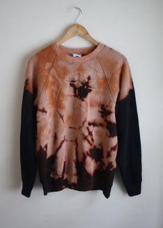 Tie Dye Bleached Sweatshirt Jumper Dip dye by JessIrwinClothing