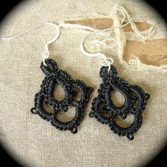 Tatted Lace Earrings  - Petals - Choose Your Color via Etsy