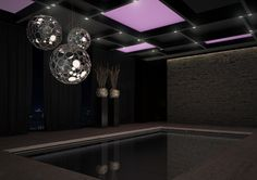 Conceptual design indoor pool penthouse Moscow! Design by Team Eric Kuster..