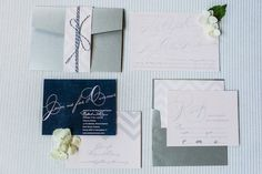 Beautiful pink and gray wedding invitations by http://www.lemonandlavender.com #ELV