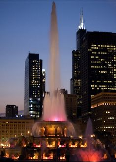 I love Buckingham Fountain, Chicago, Illinois. You just have to see it at night...we went all the time. : )