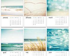 2016 calendar beach photography calendar 4x6 5x7 by mylittlepixels