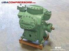 Carrier-Carlyle quality semi hermetic compressor with automatic unloaded start. High-efficiency motor with warranty sold here at USACOMPRESSORS. Refrigeration And Air Conditioning
