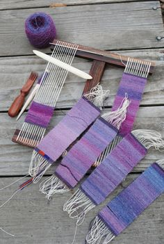 Rebecca spun a singles yarn to create a color gradation for tapestry weaving. Photo: Rebecca Mezoff. Hokett loom in action. Photo: Rebecca Mezoff.  Rebecca Mezoff might be based in Fort Collins, Colorado, but she is sharing her passion for tapestry weaving all over the world. Coming from a family of weavers and later…