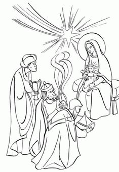 Wise Man Coloring Page Biblical Magi Three Kings V is for visit