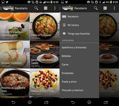 This application for mobile phones allows you to view recipes, also you can put the food you have in your refrigerator and this app will tell you what recipe you can create with them. Moreover a section called `` I have to do them'' where you will remember what recipes you have to do.