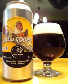 Gaz de Course - Broue Pub Brouhaha - Mabrasserie via craftbeerquebec.ca #dégustation #bière #mabrasserie #houblon #québec #buvezfrais #bièreduquébec #brasserie #boirelocal #craftbeerqc #bièreqc #drinkcraft #craftbeer #bière #americanbarleywine #barleywine #beer #hoppy #microbrasserie #beerreview