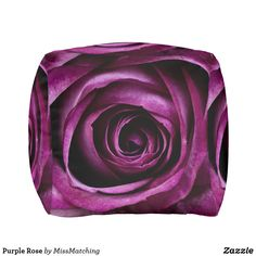 Purple Rose Pouf