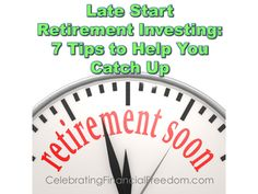 Are you getting a late start on investing for retirement?  Here are 7 things you can do right now to help you catch up  #Investing #retirement  Photo Credit:David HilowitzviaCompfightcc  http://www.cfinancialfreedom.com/late-start-retirement-investing-tips-catch/