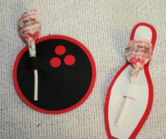 Bowling Lollipop Favor by BradysBits on Etsy, $5.00
