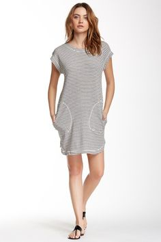 Striped Shift Dress by Max Studio on @nordstrom_rack - fun dress for pool days or runs to the grocery store.