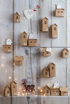Cardboard house advent calendar More