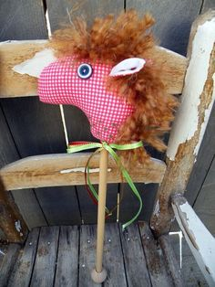 Gingham Stick Horse by beebers31, via Flickr