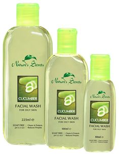 Discover the natural beauty of your skin with Nature's Secrets Cucumber Facial Wash. 100% soap free, with a skin-friendly pH of 5.5-6.0, daily use of this facial wash reduces excess oiliness of the skin, and reduces pimples. Rich in the goodness of Cucumber (Cucumis sativus L.) & skin friendly cleansers, it cleans and revitalizes, leaving your skin looking fresh and radiant.   Buy it here: http://www.luxurylife.lk/index.php?route=product/product=20_26_63_id=51