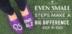 alz.org/walk #ENDALZ #Walk2ENDALZ Alzheimer's Walk, Walk To End Alzheimer's, Alz Org, Alzheimer's Association, Alzheimers Awareness, Wearing Purple, Alzheimer's And Dementia, Purple Fashion, Ribbon Colors