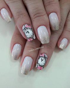 Pink Nails, Nail Art, Nail Art Designs, Designed Nails, Adhesive, Fingernail Designs, Style, Pink Nail, Nail Arts