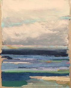 Cloud Fray, 2018, mixed media with hand dyed fabric on linen, 24h x 18w x 1.5 inches.