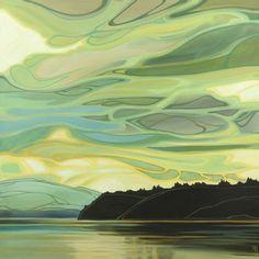 Landscape Quilts, Landscape Art, Landscape Paintings, Watercolor Illustration, Watercolor Art, Painting Inspiration, Art Inspo, Art Painting Gallery, Impressionist Paintings