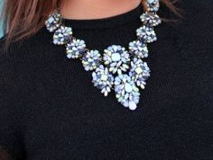 Statement necklace Zara blue yellow green