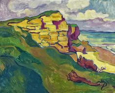 View La falaise By Louis Valtat; Oil on canvas; 25 by 32 in; Access more artwork lots and estimated & realized auction prices on MutualArt. Monet, Andre Derain, Martin Johnson, Gauguin, Pierre Bonnard, Modern Artists, Henri Matisse, French Art, Abstract Landscape