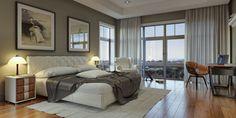 Schlafzimmer in Neutralfarben gestalten - stilvolle Wanddeko