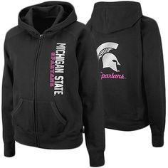 Michigan State Spartans Ladies Charm Full Zip Hoodie - Black #Fanatics