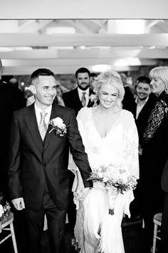 Rue De Seine Cleo Bride Jessie and partner Donal at their gorgeous Irish Wedding <3 xx http://www.dashacaffrey.com/blog/2016/7/5/ballymagarvey-village-wedding-meath-photographer-jessie-and-donal #ruedeseine #nomadiclove #cleogown