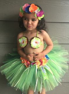 A personal favorite from my Etsy shop https://www.etsy.com/listing/294164705/colorful-hawaiian-tutu-set-skirt-top