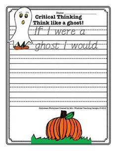Halloween Worksheet FREE About Ghost. Kids writing worksheet for school homework. Halloween Worksheets, Halloween Activities, Holiday Activities, Halloween Kids, Halloween Themes, Worksheets For Kids, Halloween Crafts, Halloween Party, 1st Grade Writing