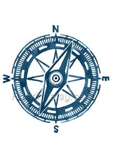 Items similar to Compass Illustration, Nautical Print, Blue watercolor Compass Print, Marine Poster, Sea Art on Etsy Nautical Compass, Nautical Wall Decor, Nautical Nursery, Nautical Prints, Free Art Prints, Wall Art Prints, Dia Do Designer, Black And White Posters, Sea Art
