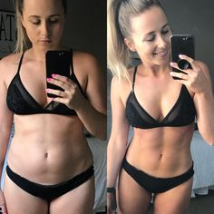 women's before and after 80 day obsession workout and meal plan results