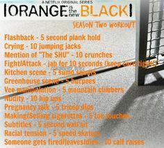 Orange is the New Black Workout Season 2 - Netflix OITNB tv workout