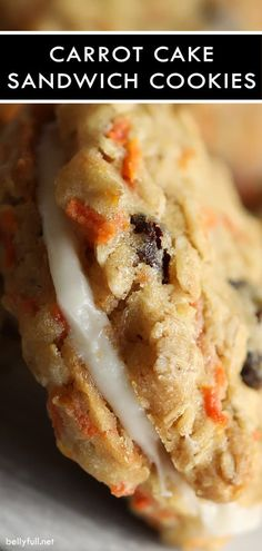 These Carrot Cake Cookies have all the flavors of your favorite carrot cake rolled into cookies. Soft chewy and sandwiched with a wonderful cream cheese frosting! The post Carrot Cake Cookies appeared first on Orchid Dessert. Cookie Desserts, Just Desserts, Delicious Desserts, Dessert Recipes, Yummy Food, Cookie Jars, Yummy Cookie Recipes, Dessert Blog, Cookie Flavors