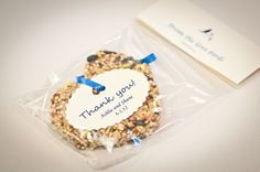Not doing bird seed but such a cute idea so I had to pin. birdseed favors :  wedding blue diy Oleary 333