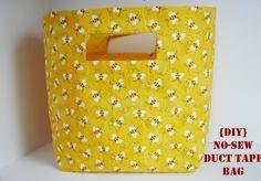 {DIY{ No-sew Duct Tape Bag