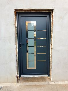Aluminium front door  ral 7016