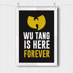 Wu Tang Clan - Poster - 2 Colors - 35x50, A3, A4, A5, sizes - Rap, Hip Hop, Music - Instant Download - Abstrakt Design -