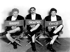 Harpo, Groucho and Chico... The Marx Brothers