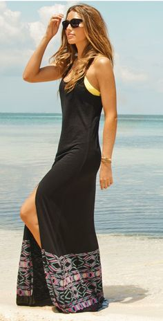 Beach Style - L Space 2014 Midnight Waves Black Dress ~ Beach Style 2014 - Style Estate -