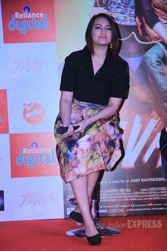Sonakshi Sinha promoting 'Tevar'.