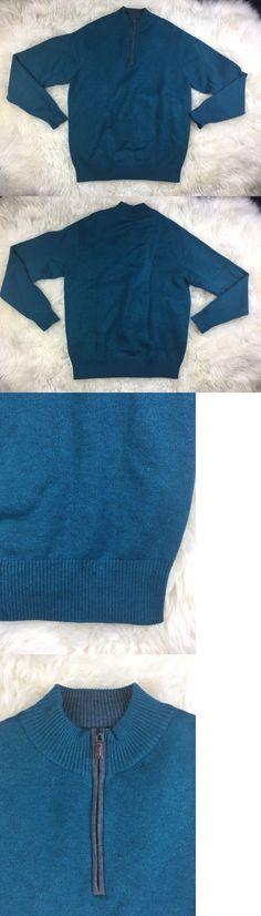Sweaters 11484: Mens Peter Millar Wool Blend 1 4 Zip Dark Green Sweater Size Medium -> BUY IT NOW ONLY: $34.5 on eBay!