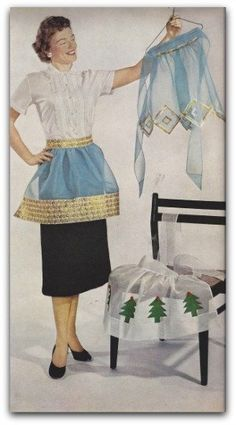 3 Vintage apron patterns